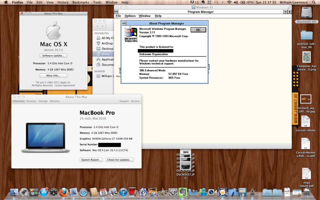 Windows 3.11 on Mac OS X 10.7